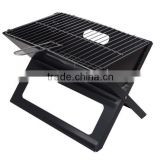 Portable Folding Tabletop Compact Charcoal BBQ Barbecue X- grills with Notebook Design for Camping Outdoor Kitchen Cooking
