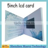 Factory Custom LCD Screen Video greeting Card/ Digital Business Cards for Festival,Birthday,Wedding