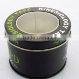 PET window watch tin boxes/ watch tin cans/watch tin packing with hinged lid