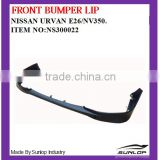 INquiry about new products auto spare parts front bumper lip NS300022 for NS Urvan E26/NV350 2013 up