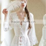 High quality Noble and Elegance Exquisite Palace Sexy Beautiful Sleep Wear Dress with Lace Night Nobe Sleepwea