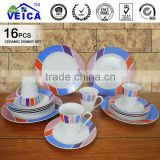 16pcs white ceramic dinner set with popular modern design including blank coffee mugs wholesale and ceramic dinner plate