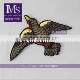 hot sales eagle patch 13*17cm designing accessories for dresses beaded patch textile accessories