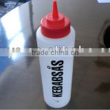 2013 new screen printing LDPE plastic bottle for jam,ketchup,cream sauce with special cap