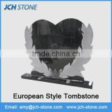 China factory wholesale High quality absolute black grantie tombstone gravestone monuments American & European style