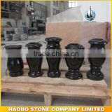 Shanxi Black Granite flower vases for tombstones Cemetery Vase Monuments Accessories