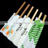 wholesale paper wrapped carbonized disposable tensoge bamboo chopsticks in bulk with high quality