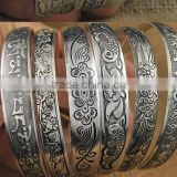 High quality zinc alloy bangle vintage style alloy bangle big wide open alloy bangle