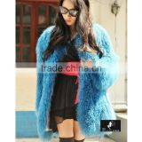SJ142-01 Wholesale Professional Various Colors Mongolia Sheep Fur Overcoats