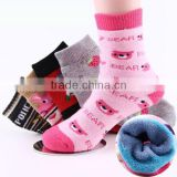 autumn&winter high quality 100%cotton children terry thick socks