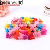 colours butterfly small size mini plastic clip hair claws