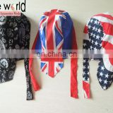Flags Head Wrap Cotton Biker Cap Bandana
