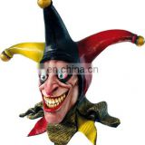 2014 Hot Selling Eco-friendly Adult Size Realistic Latex Scary Clown Mask Deluxe Creepy Mask