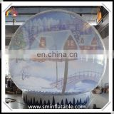 Christmas ornament giant inflatable snow globe, human customized snow globe for outdoor event promotion