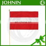 custom advertising polyester Austria national waving small hand flag