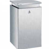 Public stainless steel wastebin