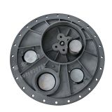 Flanged aluminum manhole cover With breathing valve and emergency exhaust valve