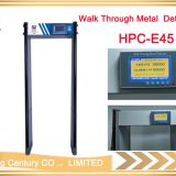 High Security full body walk through door frame arched metal detector