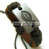 Fashion Leather Bracelet With Fish Icon Wholesale
