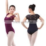 New Sexy Lace Sleeve and Back Ballet Leotard and Soft Cotton Lycra Dance Performance Leotard