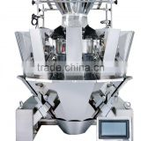 CE IP65 14 Head Multihead Weigher for pease,rice,biscuit peanut,tea ball,mushroom,candy,seed,bean,etc. packing machine