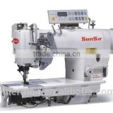 SunSir SS-D8450-D3 High speed direct drive computerized double needle industrial sewing machine