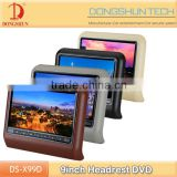 Wholesale price 9 inch car headrest dvd car headrest dvd player