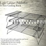 AN184 ANPHY Light Cabinet Publisher 3-Tier Cooling Rack Steel SGS 3 Layers Cake Cooler Metal Shelf Gift Packing 10sets /carton