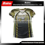 New design sublimated american football jersey/american football training jersey/american football jersey custom