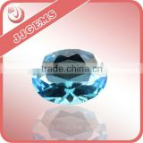 wuzhou fashion rough machine cut oval shape blue spinel stone