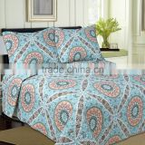 China supplier quilts pujiang factory Rotary printed quilts bedding sets quilts pillowcase