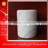 Carrara White Marble Jars,White Marble Jars,Marble Soy Candle Holder                                                                         Quality Choice