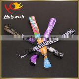 New style custom music festival fabric vip entrance wristband
