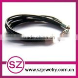 pub0036 new fashion leather wrap magnetic clasp bracelet