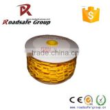 Traffic safety 6mm yellow and black Plastic Chain for traffic cones