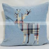 PLUS hot selling deer design plain cotton throw pillow cover with great price