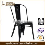 Different Colors Commercial Vintage industrial Dining Chair Restaurant living room Stackable metal dining chair