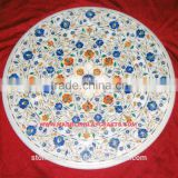 Inlay Marble Dining Table Top, Marble Inlay Table Top, Stone Inlay Table Top