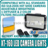 XT-160 5800K LED Video Light Camcorder Lamp CN-160 Battery Charger