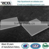Square transparent UV light transmitting quartz glass plate