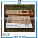 Drawer style kraft paper packagiong carton 26.5 * 6 * 3.5 CM five pairs of wooden chopsticks packaging box                                                                                                         Supplier's Choice