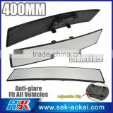 Universal 400mm Convex Curved Car Truck Clip On Car Blind Spot Mirror