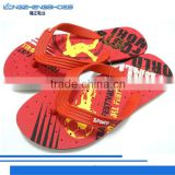 Rubber screen printed flip flops slippers