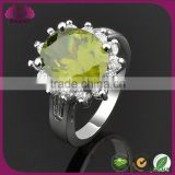 Lucky Stone Flower Ring Yellow Topaz Ring
