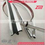 car door window PVC bumper chrome strip
