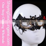 High Quality Wholesale Gothic Style Sexy Lady Masquerade Halloween Party Bat Shape Mask Dance Props