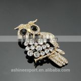 Cute animal series-owl hollow fashion rhinestone brooch/handmade brooch