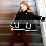 Kids Girls Wear Faux Fur Hooded Cape Cloak Hoodie Coat OEM Type Custom Clothes Manufacturer Factory Guangzhou