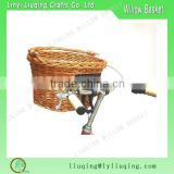 Removable Good Quality Empty Willow Wicker Bicyle Basket