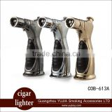 Best Luxury COHIBA metal Cigar torch lighter refillable Windproof welding Blow torch cigar tool